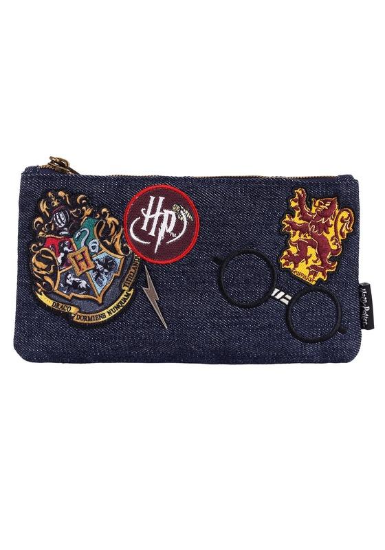 Loungefly: Harry Potter - Hogwarts Logo Blue Purse