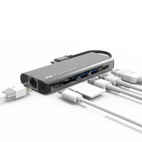 Feeltek Portable 6-in-1 USB-C Hub