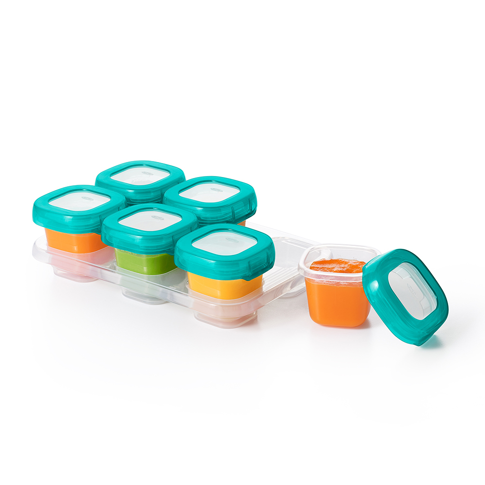 OXO Tot: Baby Blocks Freezer - Teal Storage Container Set image