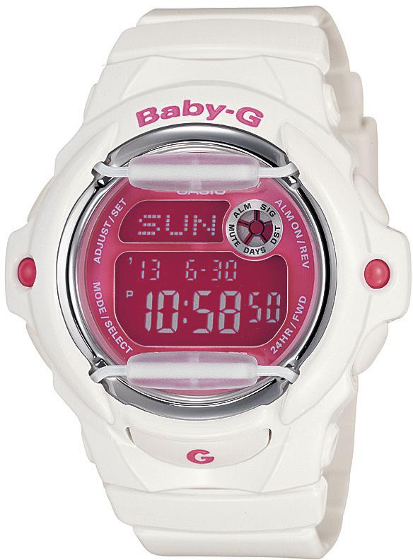Casio Shock resistant Baby-G BG169R-7D - White/Pink