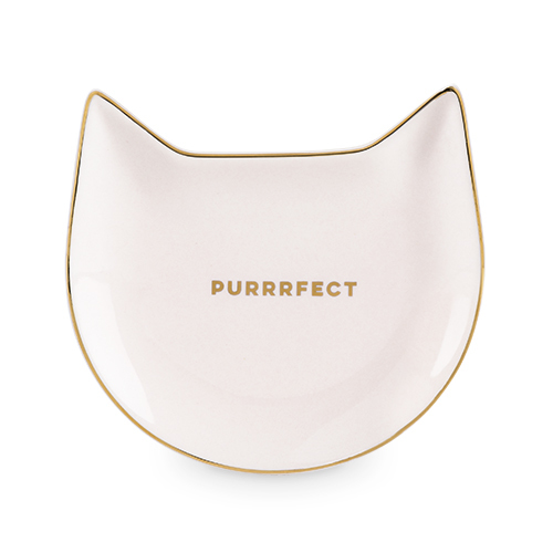Pinky Up: Purrrfect - Pink Cat Tea Tray image
