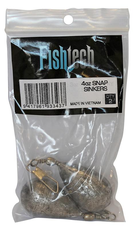 Fishtech Snap On Sinker 4oz (2 per pack)