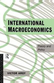 International Macroeconomics by Victor Argy image