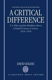 A Critical Difference by David Goldie image