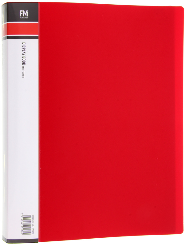FM A4 60 Pocket Display Book - Red