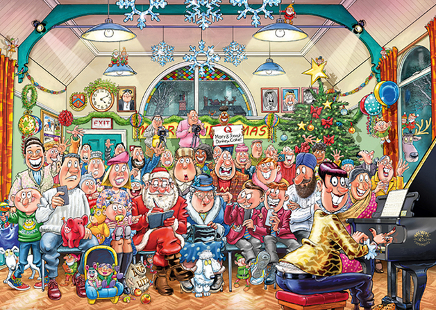 Wasgij: 1000 Piece Puzzle - Xmas #16 (The Christmas Show)