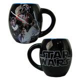 Star Wars Characters Black Ceramic Oval Mug (530ml)