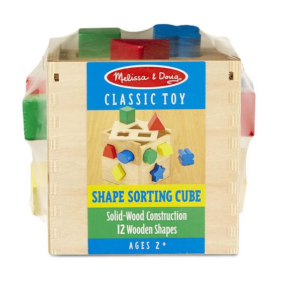 Melissa & Doug: Classic Wood Shape Sorting Cube image