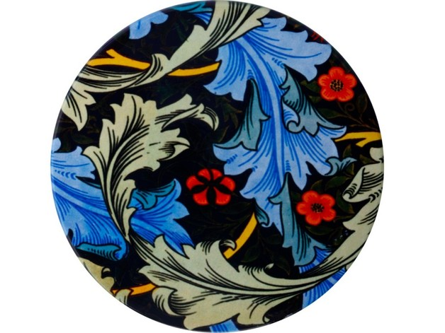 Casa Domani: William Morris Ceramic Coaster - Blue Acanthus