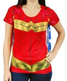 DC Comics: Wonder Woman Sublimated Costume T-Shirt - Medium