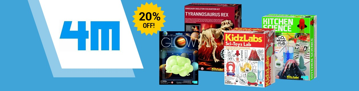 20% Off 4M Art & Science Toys!