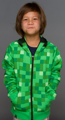 Minecraft Creeper Premium Zip-Up Youth Hoodie (XL)