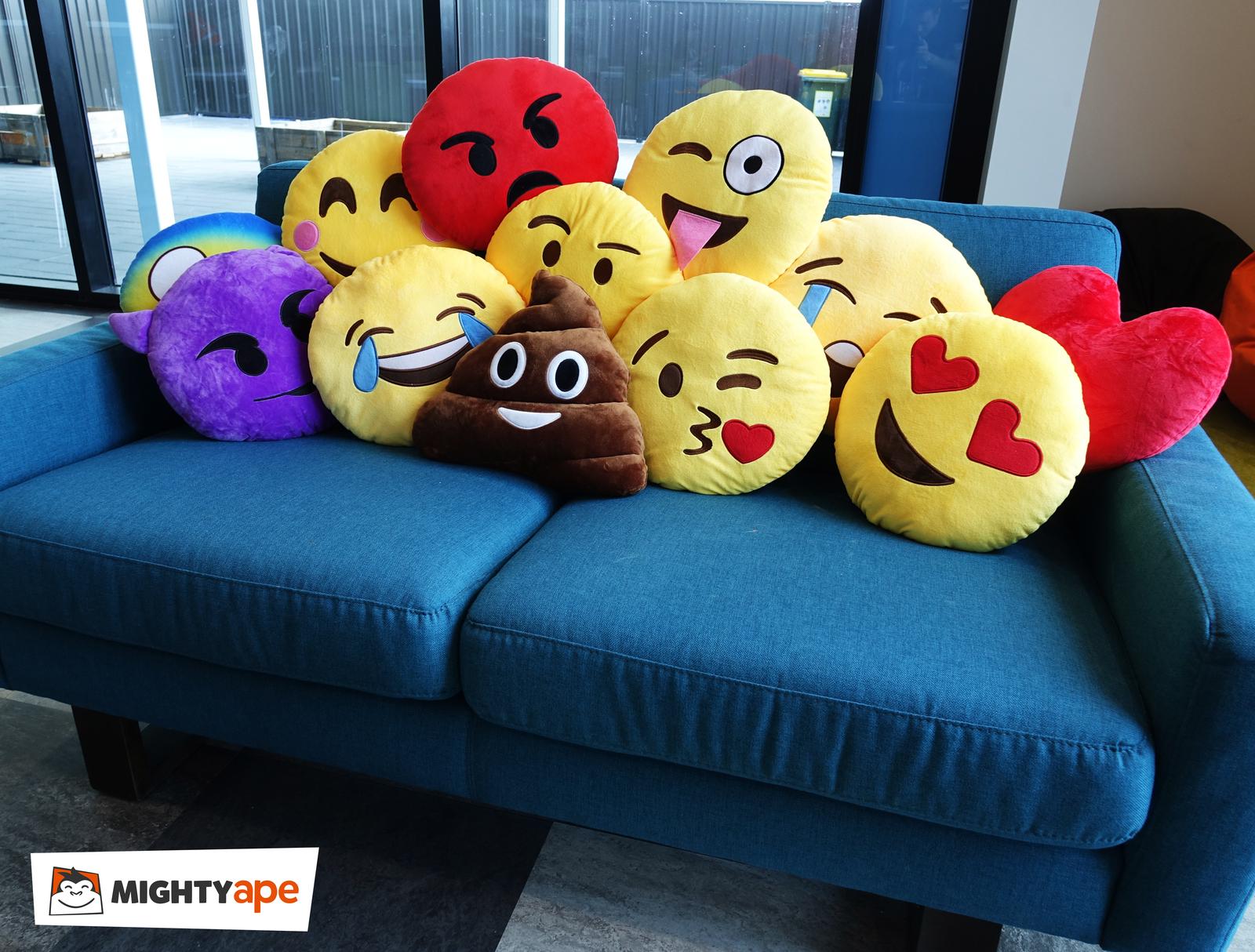Smiling Face Emoji with Blushed Cheeks Cushion - 34cm image