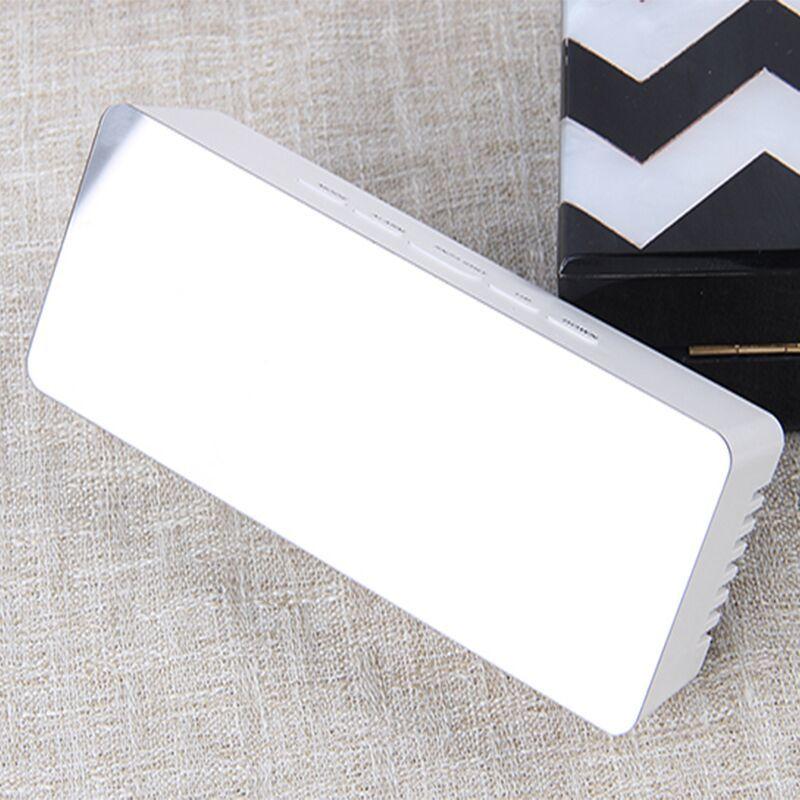 LED Mirror Clock: Style - Square image