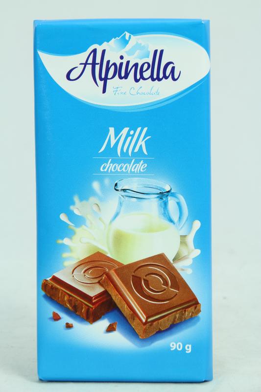 Alpinella Fine Chocolate Milk 90g 22pk