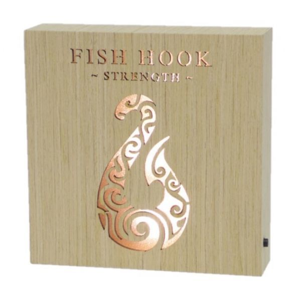 Fish Hook Strength Wooden Block
