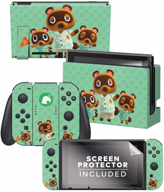 Controller Gear Officially Licensed Nintendo Switch Skin & Screen Protector Set – Animal Crossing: New Horizon for Switch