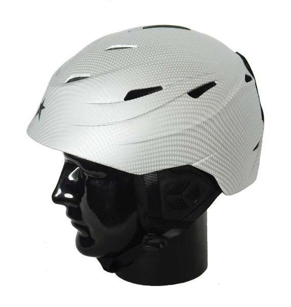 Alpine Star: Silver Carbon H01 Adults Helmet (Medium)