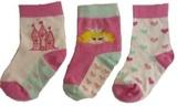 Hi-Hop Fairy Princess Girl Socks (12-24 months) - 3 Pack