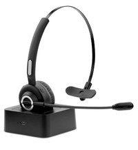 Kogan: Bluetooth Headset with Microphone and Charging Base