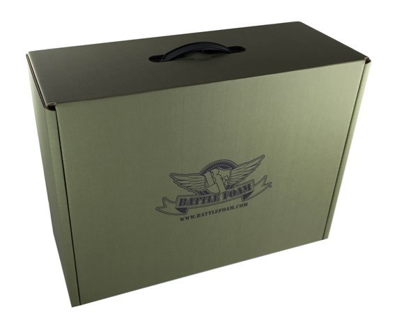 Battle Foam Eco Box Half Tray Load Out (Military Green)