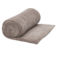 Bambury Microplush Throw Rug (Oyster)