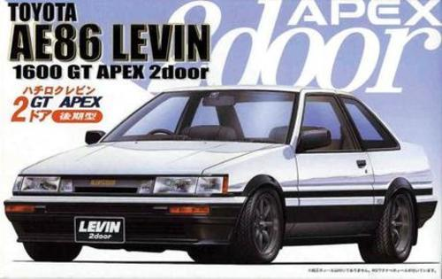 Fujimi 1/24 Toyota Corolla Levin AE86 2doors GT APEX 'Late type' - Model Kit
