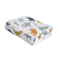 Little Unicorn - Cotton Muslin Quilt - Dino Friends image