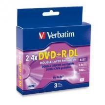 Verbatim DVD+R DL 8.5GB 3PK Jewel Case 2.4x