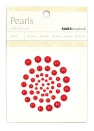 Kaisercraft: Self Adhesive Pearls - Red