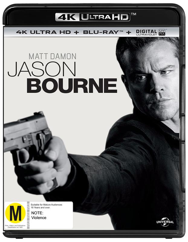 Jason Bourne on Blu-ray, UHD Blu-ray, UV