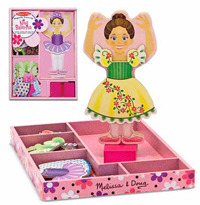Nina Ballerina Magnetic Wooden Dress-Up Set - Melissa & Doug image
