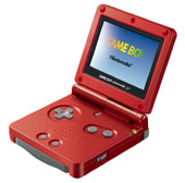 Game Boy Advance SP - Flame Red for Game Boy Advance