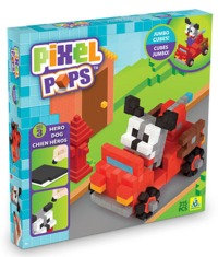 The Orb Factory: Pixel Pops - Hero Dog Jumbo Playset