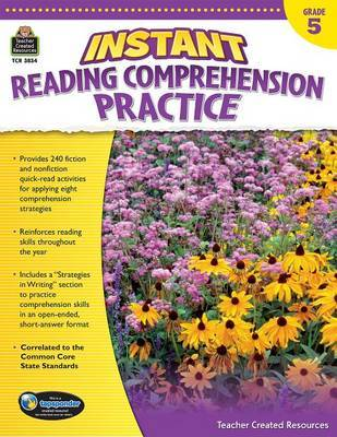 Instant Reading Comprehension Practice Grade 5 by Ruth Foster