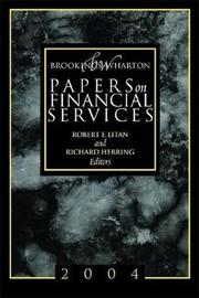 Brookings-Wharton Papers on Financial Services: 2004 image