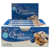 Quest Nutrition - Quest Bar Box of 12 (White Chocolate Berry Muffin)