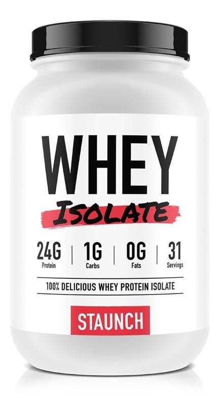 Staunch Nutrition Whey Isolate - Vanilla Ice Cream (1.08Kg)