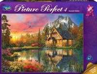 Holdson: Picture Perfect 1000pc Puzzle - Sunset Cabin