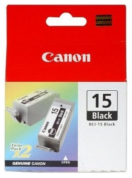 Canon Ink Cartridge - BCI15BK Twin Pack (Black) image