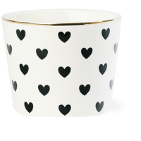 Miss Étoile - Black Hearts Latte Bowl