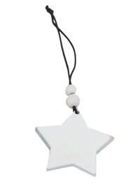 Star Snowflake Felt Decoration - White (6.5cm)