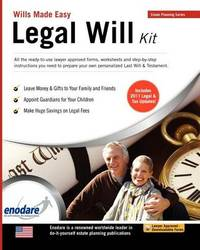 Legal Will Kit by Enodare