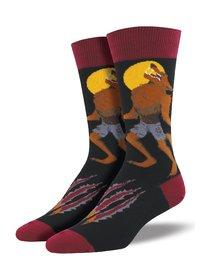 Mens - Black Howling At The Moon Crew Socks