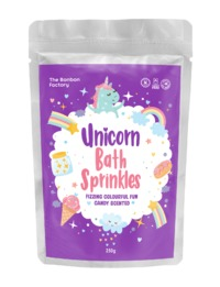 The Bonbon Factory Unicorn Bath Sprinkles - Candy Scented (250g)