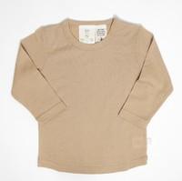 Babu: Merino Crew Neck Long Sleeve T-Shirt - Cinnamon (2 Years) image
