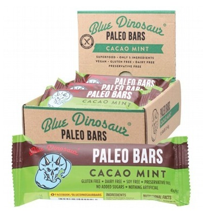 Blue Dinosaur Paleo Bars - Cacao Mint (12 Bars)