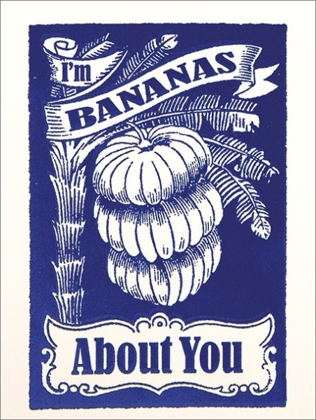 Archivist: Mini Card Bananas About You Anniversary Love Card
