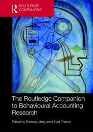 The Routledge Companion to Behavioural Accounting Research