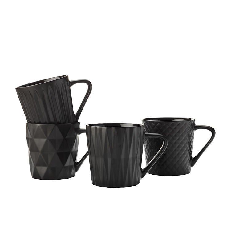 Maxwell & Williams Mug Set of 4 - Matte Black (400ML) image